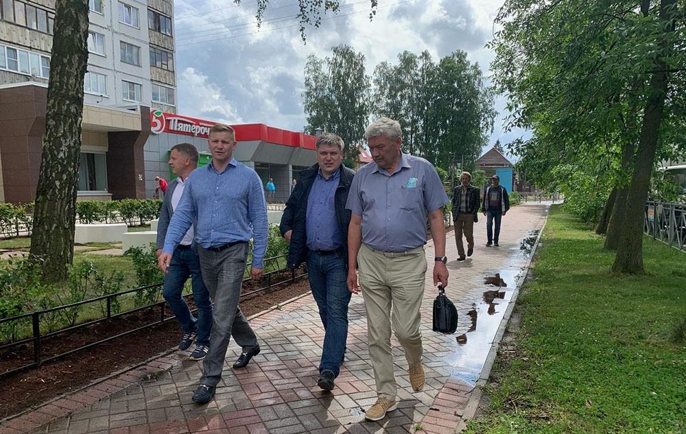 Муниципальная комиссия проверила ход строительства дорог